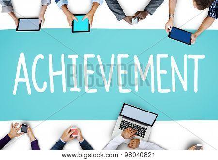 Achievement Goal Target Success Accomplishment Concept poster