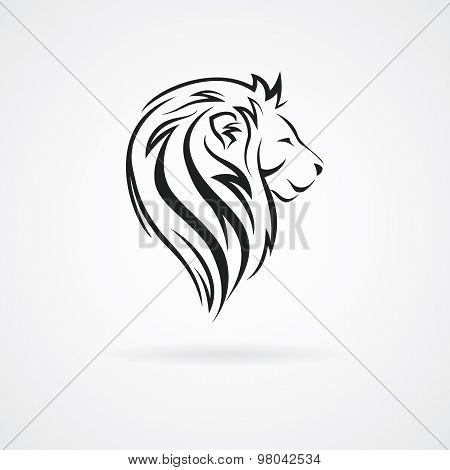 Lion Head, Vector Logo Design Mock Up Template Set. Abstract Concept Icon Logotype Vector Illustrati