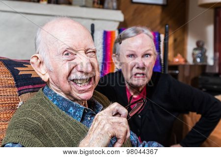 Angry Old Couple