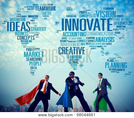 Innovate Ideas Inspiration Invention Creativity Concept poster