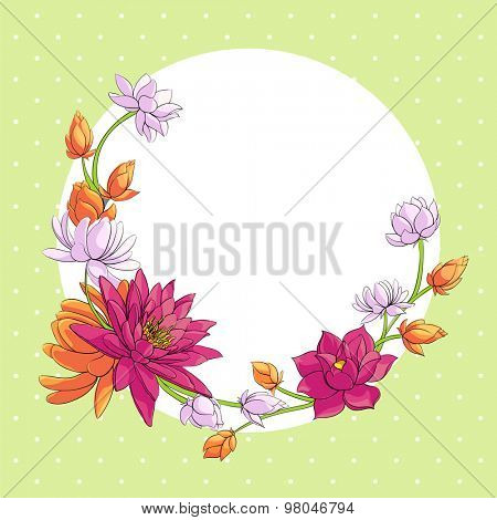 floral background with some lotuses