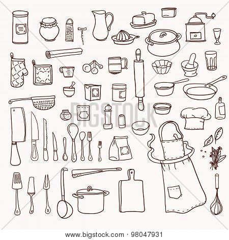 Kitchen utensils collection