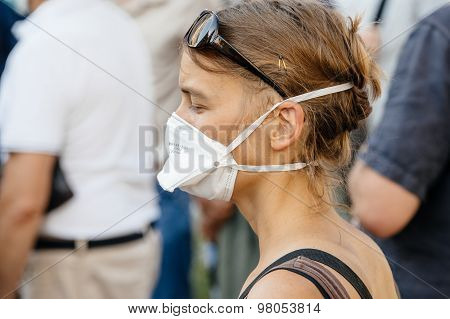 People Protesting Against Air Pollution