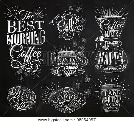 Coffee Signs Chalk