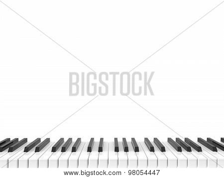 Black And White Shiny Piano Keyboard