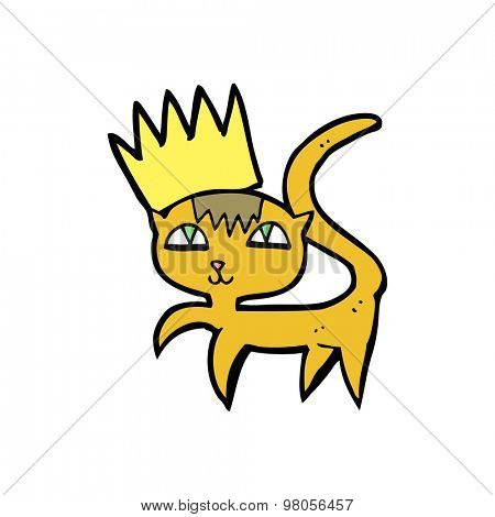 cartoon cat with crown