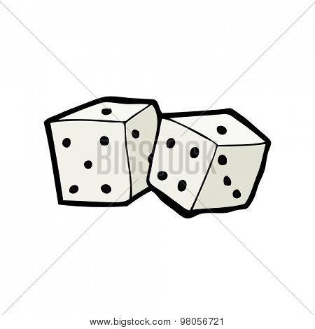 cartoon dice