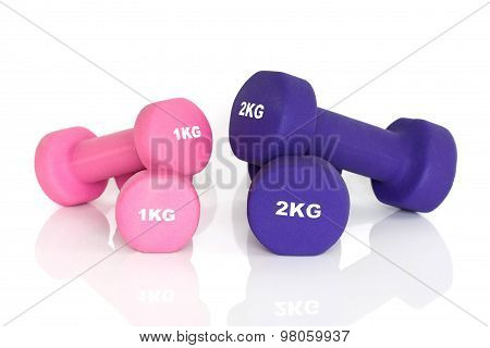 2 Pairs Of Fitness Dumbbells