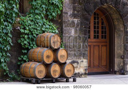 Chateau Montelena Wine Barels