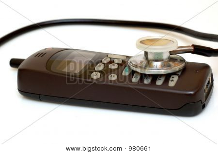 Broken Phone And Stethoscope