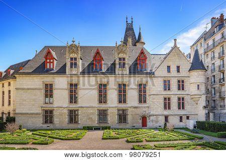 Mansion Hotel De Sens And Its Garden In Paris