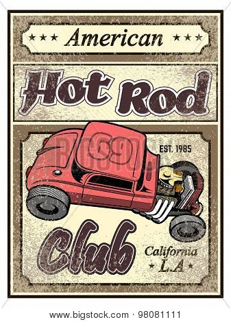 vintage drag race car for printing.vector old school race poster.retro drag race car set.T-shirt pri