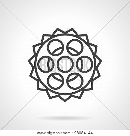Chain sprocket line vector icon