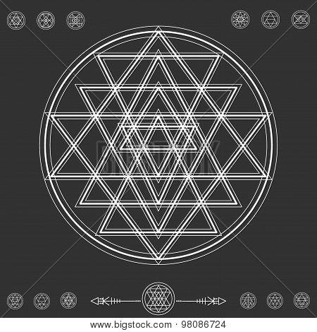 Set Of Geometric Hipster Shapes 9Z72211Black