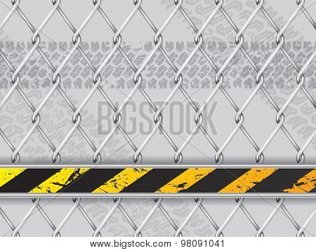 Abstract Industrial Background With Wired Fence