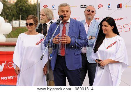Orel, Russia, August 01, 2015: Mumu Fest, Turgenev's Story Art-festival, Irina Nikishonkova (organiz