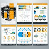 Infographics Vector Concept. Set of Business Infographic Design Elements for Data Visualization poster