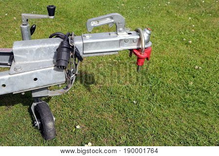 Trailer Hitch And Jockey Wheel, With Electric Hook Up And Hitch Lock, In Sunshine