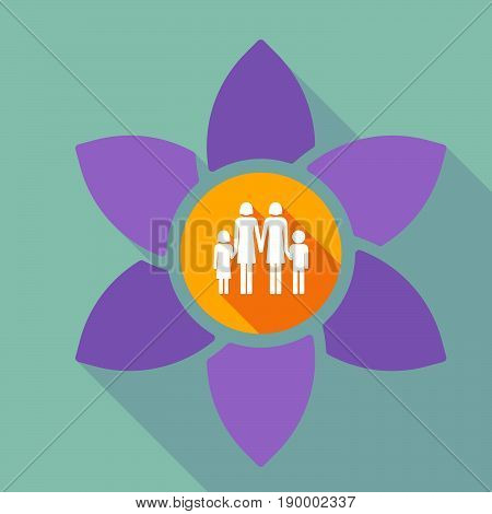Long Shadow Loto With A Lesbian Parents Family Pictogram