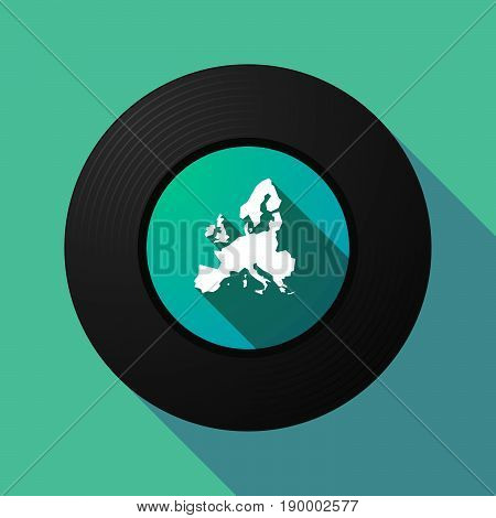 Long Shadow Music Disc With  A Map Of Europe