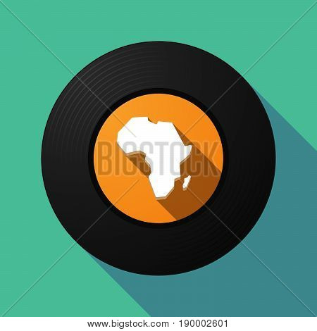Long Shadow Music Disc With  A Map Of The African Continent