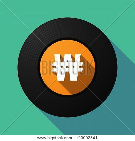 Long Shadow Music Disc With A Won Currency Sign