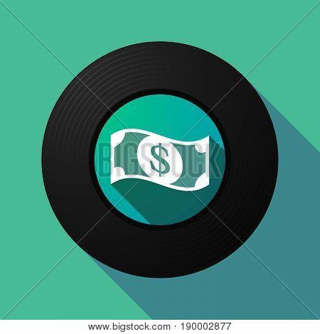 Long Shadow Music Disc With A Dollar Bank Note