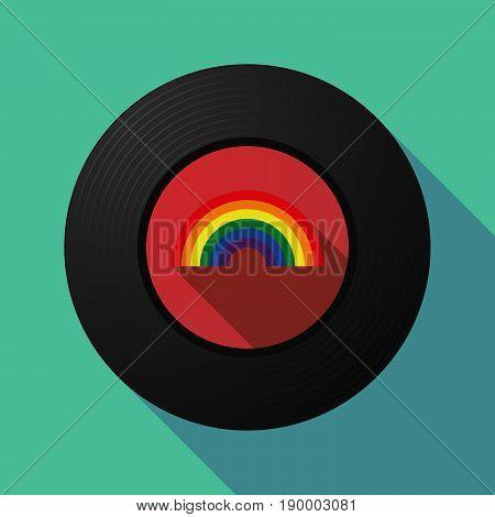 Long Shadow Music Disc With A Rainbow