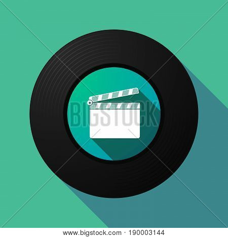 Long Shadow Music Disc With A Clapperboard