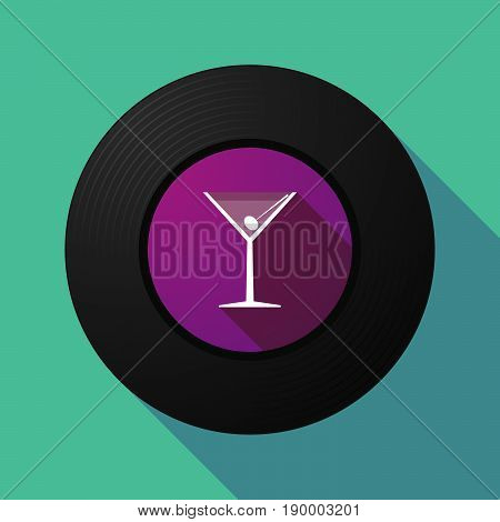 Long Shadow Music Disc With A Cocktail Glass