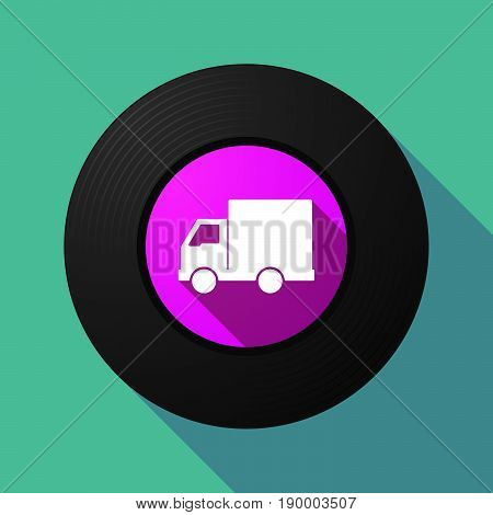 Long Shadow Music Disc With A  Delivery Truck