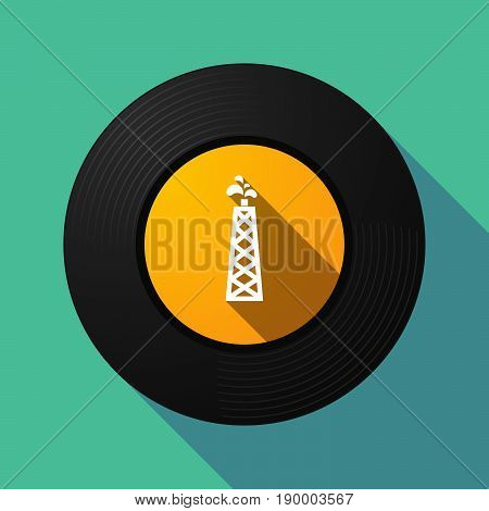 Long Shadow Music Disc With An Oil Tower