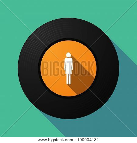 Long Shadow Music Disc With A Female Pictogram