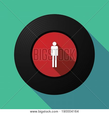 Long Shadow Music Disc With A Male Pictogram