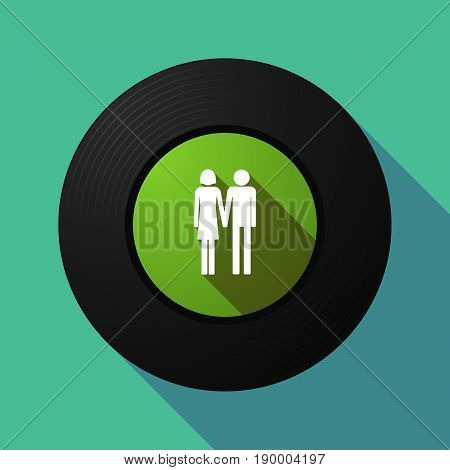 Long Shadow Music Disc With A Heterosexual Couple Pictogram