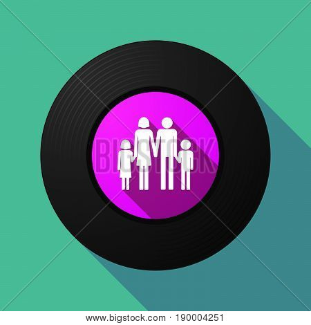 Long Shadow Music Disc With A Conventional Family Pictogram