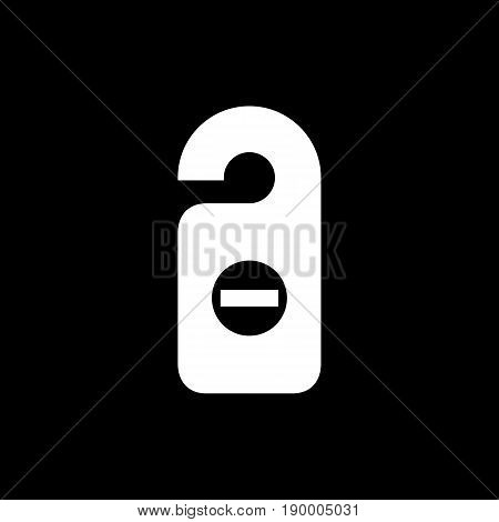 Room Tag Icon Simple Flat Style Vector Illustration. Door Tag, Door Hanger Icon
