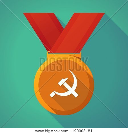 Long Shadow Medal With  The Communist Symbol