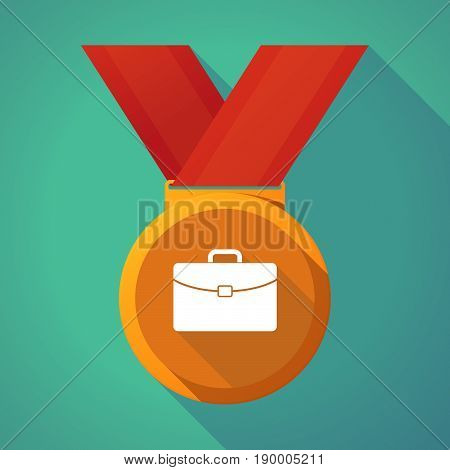 Long Shadow Medal With  A Briefcase