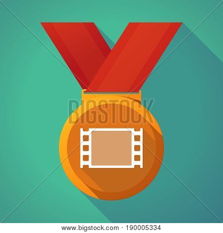 Long Shadow Medal With A Film Photogram