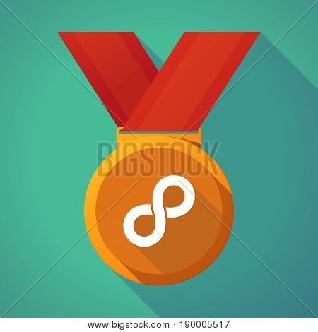 Long Shadow Medal With An Infinite Sign