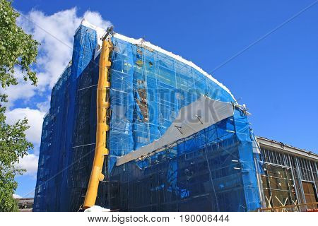 Building under construction in Whistler in Canada