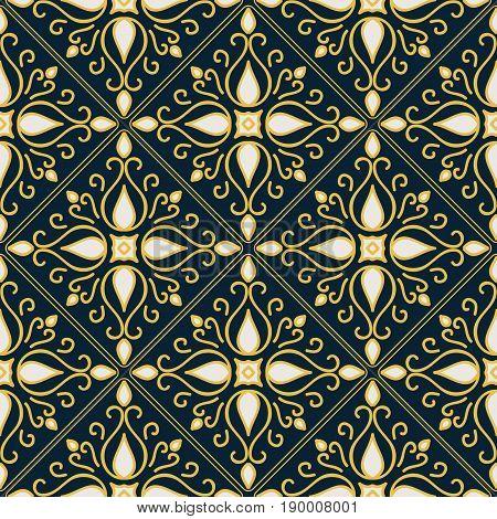 Stylish arabic vintage seamless pattern. Vector illustration