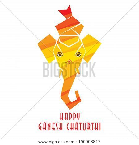 creative ganesha chaturthi or idol ganesha poster design