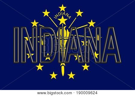 Flag Of Indiana Word