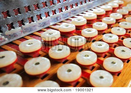 Diatonic Accordion keyboard