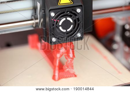3d printing head is creating a object