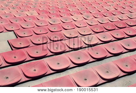 Seats Of The Stadium Bleachers Before The Event