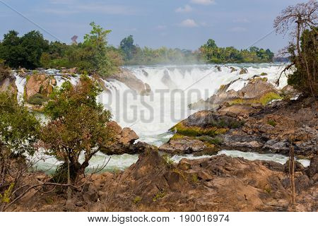 Khone Phapheng Waterfall In Laos