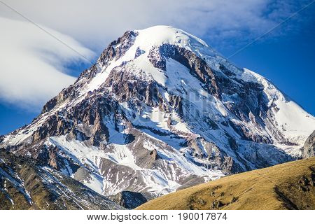 Kazbek mountain peak caucasus Georgia, Europe, Caucasus